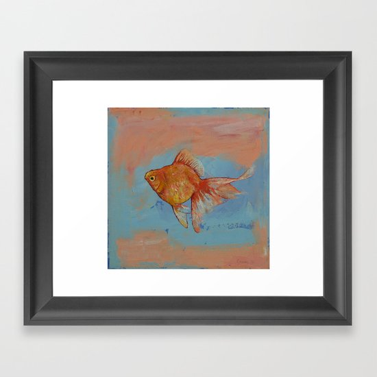 Ryukin Goldfish Framed Art Print