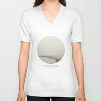 instagram V-neck T-shirts featuring Maps by Tina Crespo