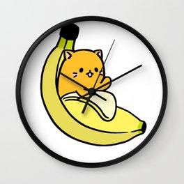 bananacat cat by diegoramonart Wall Clock