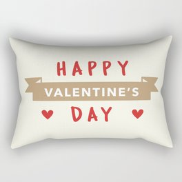 Happy Valentine's Day Rectangular Pillow