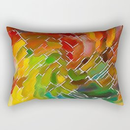 Upright Stained Twist Rectangular Pillow