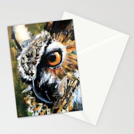 Great Horned Owl. wildlife. nature. bird. owl. Stationery Cards