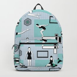 Art Deco Swimmers Backpack