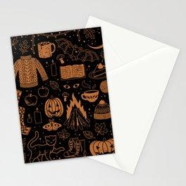 Autumn Nights: Halloween Stationery Cards