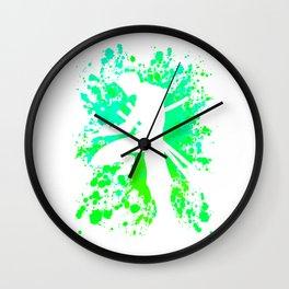 Anime Zoro Paint Splatter Inspired Shirt Wall Clock
