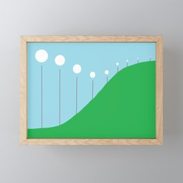 Abstract Landscape - Lights on the Hill Framed Mini Art Print