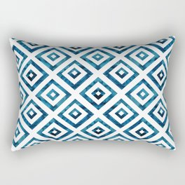 Indigo Squares Rectangular Pillow