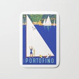 1941 PORTOFINO Italy Travel Poster Bath Mat