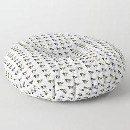 Hihi, New Zealand native Stitchbird Floor Pillow