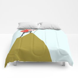 Mountain Woman Illustration Comforters