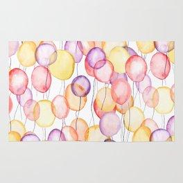 colorful balloon watercolor Rug