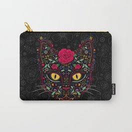 Day of the Dead Kitty Cat Sugar Skull Carry-All Pouch
