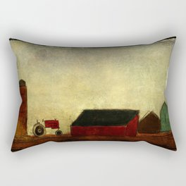 Americana Barnyard with Tractor Rectangular Pillow