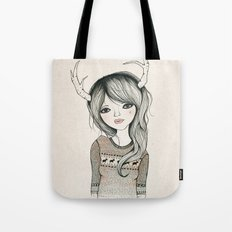 Antler Girl Tote Bag