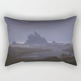 Reefs by the Seashore by Caspar David Friedrich Rectangular Pillow