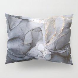 Calm but Dramatic Light Monochromatic Black & Grey Abstract Pillow Sham