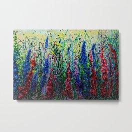 Happy Day In The Flower Fields by OLena Art Metal Print