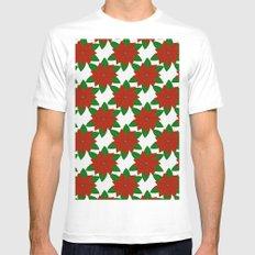 C13D Poinsettia Mens Fitted Tee White MEDIUM