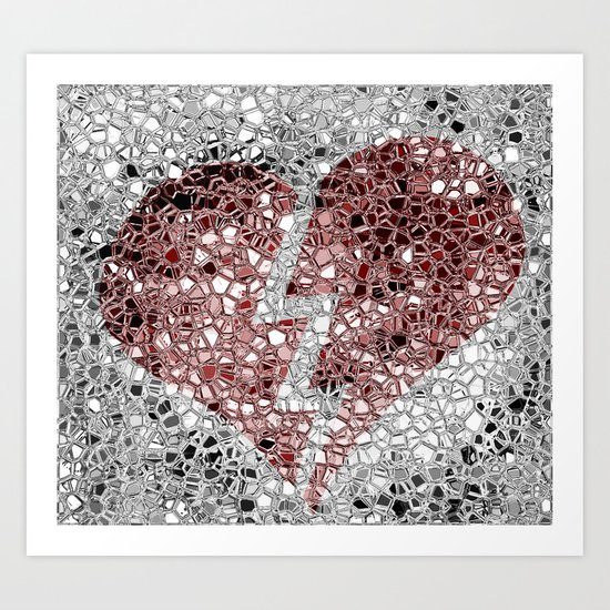Walking on Broken Glass Art Print