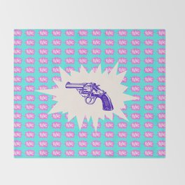 Purple Gun Throw Blanket