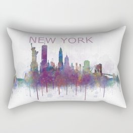 NY New York City Skyline v5 Rectangular Pillow