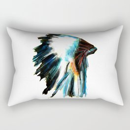 Indian Headdress Native America Illustration Rectangular Pillow