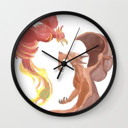 Fire in the Skies Wall Clock