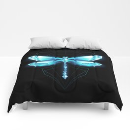 Ice Dragonfly Comforters