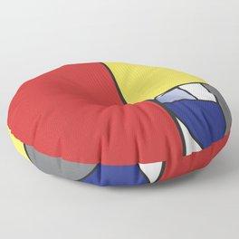Mondrian vs Fibonacci Floor Pillow