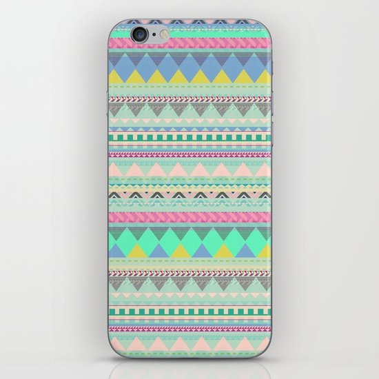 PASTEL AZTEC iPhone & iPod Skin