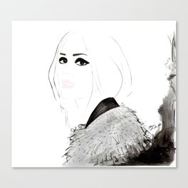 Watercolour Fashion Illustration Titled Wild Child Canvas Print