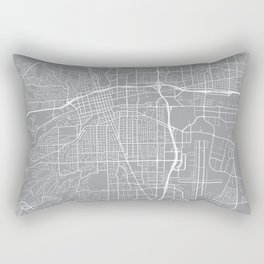 Reno Map, Nevada USA - Pewter Rectangular Pillow