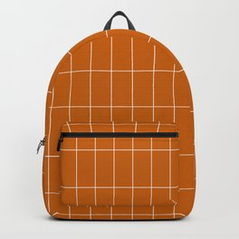 Long Grid Orange Backpack