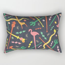 MCM Swizzle Rectangular Pillow