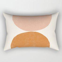 Terracotta Mid Century Modern Abstract Rectangular Pillow