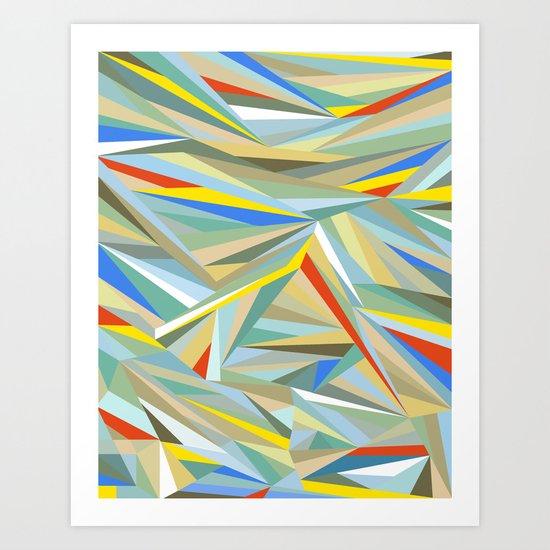 Sliced Fragments Art Print