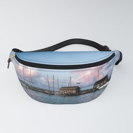 Evening at the harbour Fanny Pack