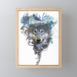 Wolf - Spirit Animal Framed Mini Art Print