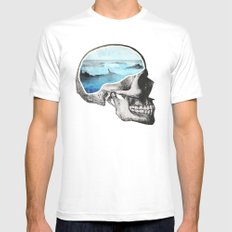 Brain Waves Mens Fitted Tee LARGE White