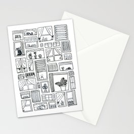 Watchful Windows Stationery Cards