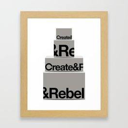 Average Boxes Framed Art Print