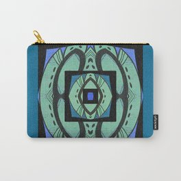 Retro Art Deco Color Therapy Healing Cool Tones Carry-All Pouch
