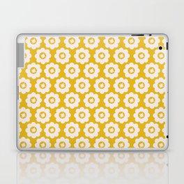 Canary Yellow Retro Floral Laptop & iPad Skin