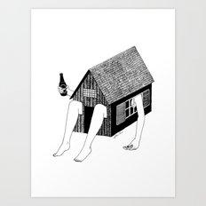 Sunday Chilling Art Print