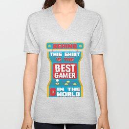 Best Gamer In The World Unisex V-Neck