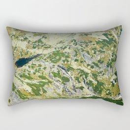 Mountain valley background Rectangular Pillow