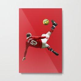 Rooney Overhead Kick  Print Metal Print