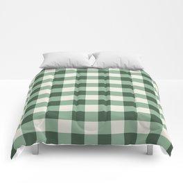 Hunter Green Buffalo Check Comforters