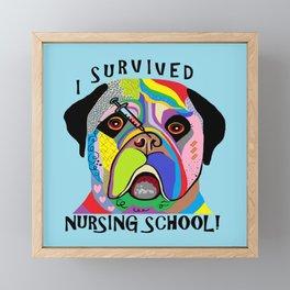 I Survived Nursing School Framed Mini Art Print