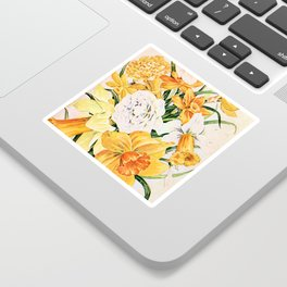 Wordsworth  and the daffodils. Sticker